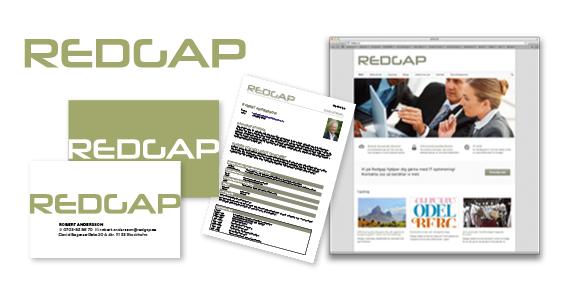 Satchmo har hjälpt det nystartade IT-säkerhetsföretaget Redgap med en grafisk profil