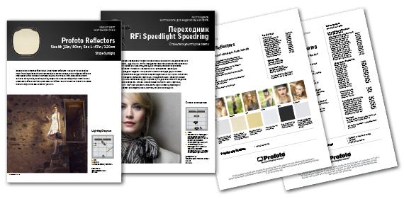 Satchmo har tagit fram nytt utseende för Profoto's produktblad.