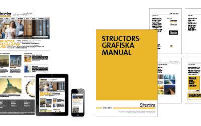 Structor får ny grafisk profil tillsammans med ny webb