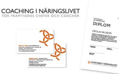 Satchmo har hjälpt Coaching i Näringslivet med deras grafiska uttryck.