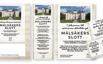 Dags att marknadsföra Mälsåkers slott inför sommarens konserter och andra evenemang, guidade turer m.m.