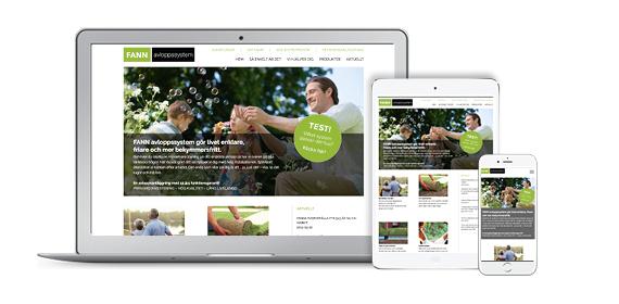 Ny webbsida för Fann