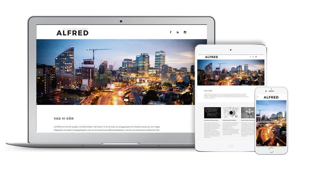 Ny webbsida för Alfred Consulting