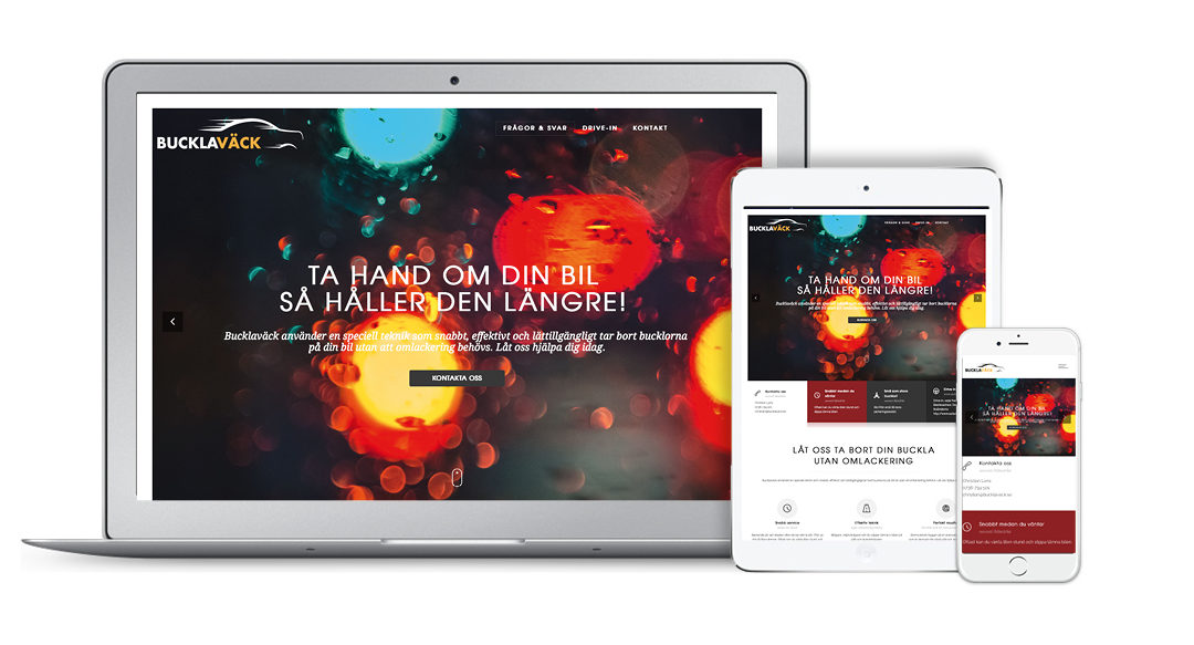 Ny webbsida för Buckla Väck