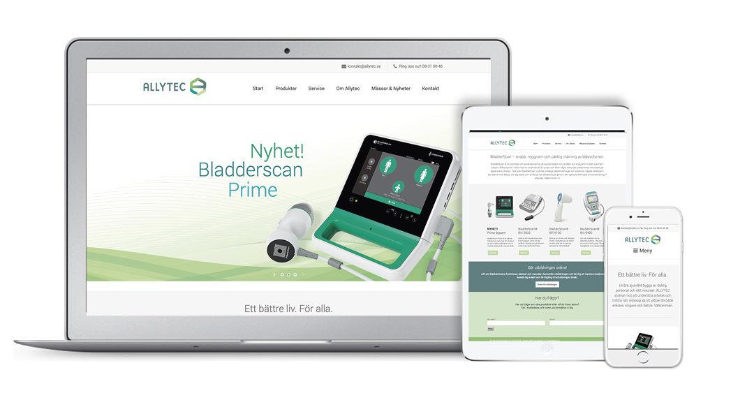 Ny webbplats för Allytec.se