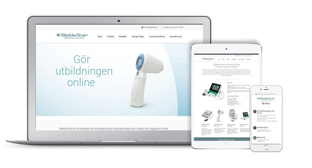 Ny webbplats för Bladderscan.se