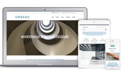 Ny webbsida för företaget Omreda