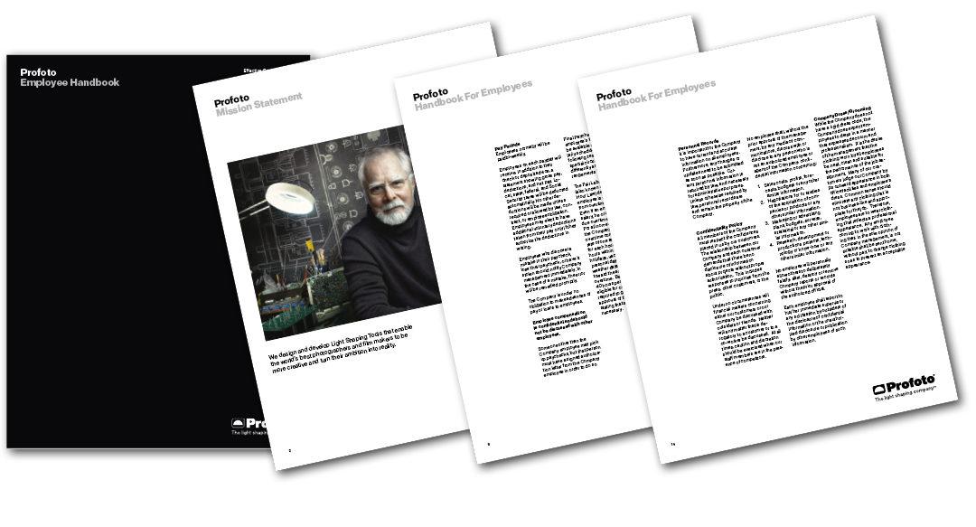 Satchmo har uppdaterat Profotos Employee Handbook
