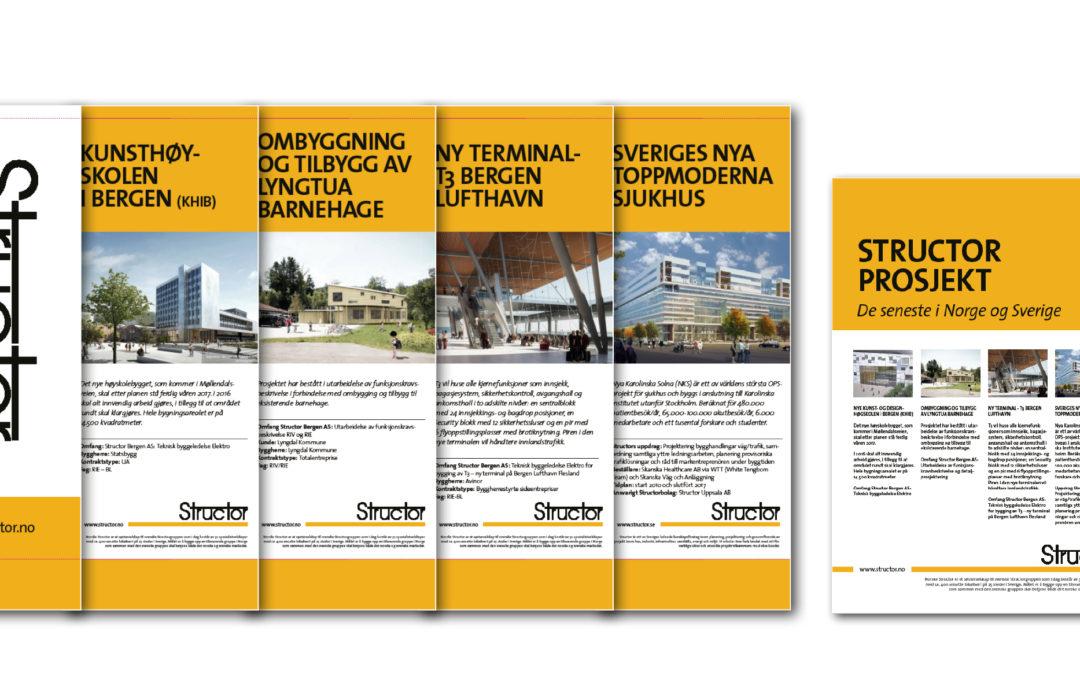 Structors bolagspresentationer, produktblad och rollups är nu i ny form