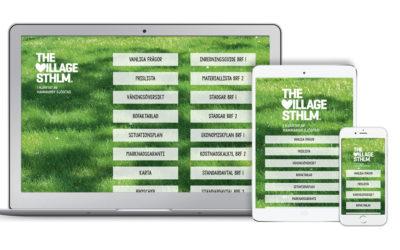 Kampanjsajt för The Village Sthlm
