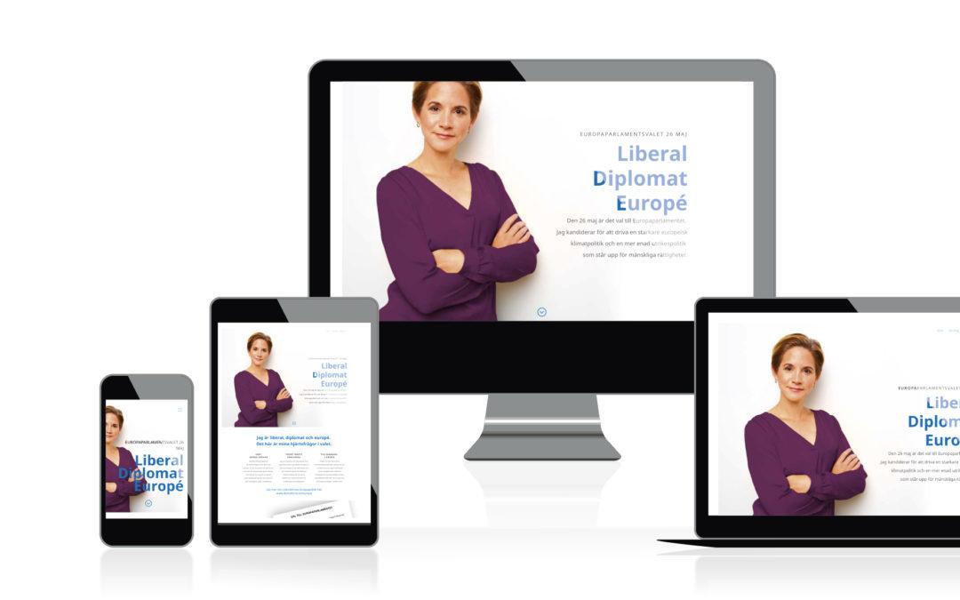 Kampanjsajt för Maria Weimer:s kandidatur till Europaparlamenatetvalet 26 maj