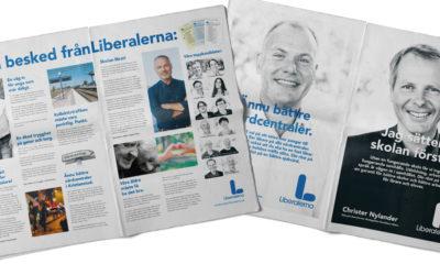 Kampanjmaterial till Liberalerna inför Riksdagsvalet 2018